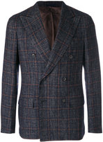 Caruso check jacket - men - Cotton/Linen/Flax/Polyamide/Bemberg - 48