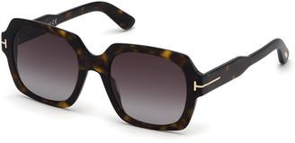 Tom Ford Autumn Square Acetate Sunglasses