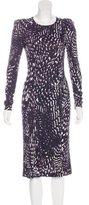 Rena Lange Long Sleeve Midi Dress