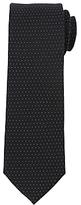 John Lewis Jacquard Micro Dot Woven Silk Tie, Black