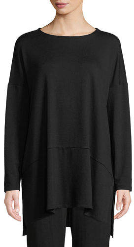 Eileen Fisher Oversized Terry Cloth Layered Tunic, Petite