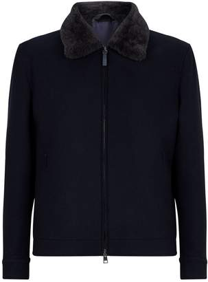 Brioni Fur-Trim Zip-Up Jacket