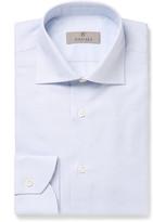 Canali - Blue Slim-fit Cutaway-collar Cotton Shirt