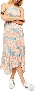 Free People Floral Print Handkerchief Hem Dress