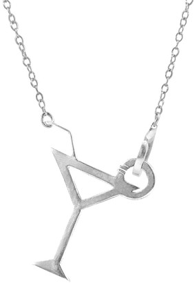 Anchor & Crew Beach Cocktail Link Paradise Silver Necklace Pendant