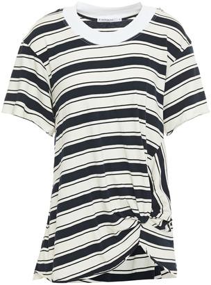 Stateside Twisted Striped Cotton-jersey T-shirt