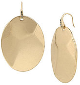 Kenneth Cole New York Pave Geometric Oval Disc Drop Earrings