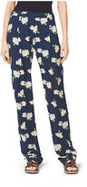 Michael Kors Camellia-Print Silk-Georgette Pants