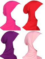GladThink Womens Muslim Mini Hijab Caps Islamic Scarf 4 Pieces Set No.10