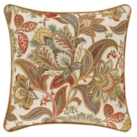 """J Queen New York Five Queens Court August 18"""" Square Decorative Throw Pillow Bedding"""