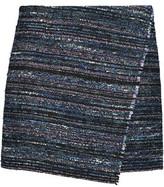 Diane von Furstenberg Wrap-Effect Cotton-Blend Tweed Mini Skirt