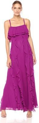 Tahari by Arthur S. Levine Women's Sleevless Flutter Flounce Gown