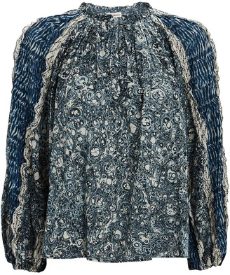 Ulla Johnson Kana Printed Peasant Blouse