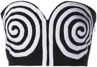 Mara Hoffman Swirl Print Bralette