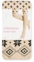 Xhilaration Women's Sweater Tights Oatmeal Fairisle