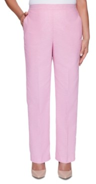 Alfred Dunner Petite Garden Party 2019 Linen-Blend Pull-On Pants