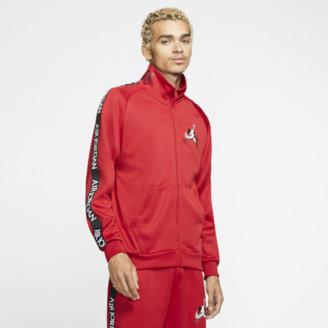 Jordan Jumpman Classics Tricot Warm-Up Jacket - Gym Red / Black White
