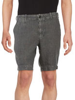 Black Brown 1826 Linen Shorts
