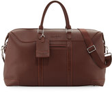 Robert Graham Large Faux-Leather Weekender Bag, Brown