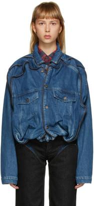 Y/Project Navy Denim Pop Up Jacket