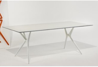 """Kartell Spoon Training Table Size: 28.35"""" H x 78.74"""" L x 35.43"""" W, Base Finish: White"""