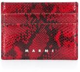 Marni snake print cardholder