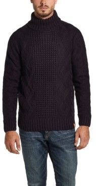 Weatherproof Vintage Men's Chunky Turtle Neck Sweater