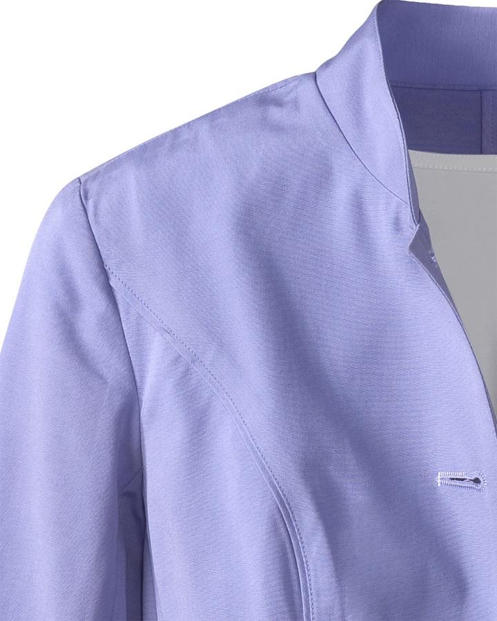 Coldwater Creek Curved hem canvas jacket