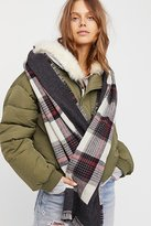 Free People Outsider Plaid Scarf