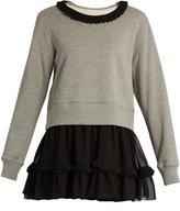 Maison Margiela Pleat-trimmed sweatshirt