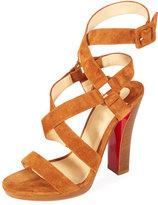 Christian Louboutin Corsini Suede Red Sole Sandal