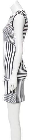 Clover Canyon Striped Neoprene Dress