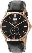 Edox Men's 64012 37R NIR Les Bemonts Analog Display Swiss Quartz Black Watch