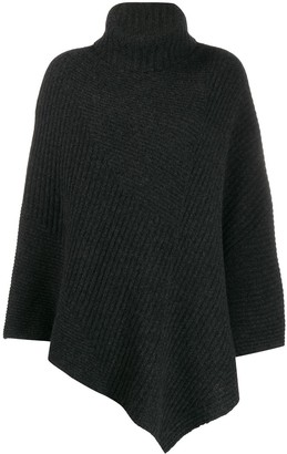 Pringle short-length ribbed Poncho
