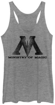 Fifth Sun Harry Potter Ministry Of Magic Logo Tri-Blend Women's Racerback Tank