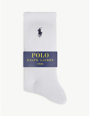 Polo Ralph Lauren Logo ribbed socks pack of three