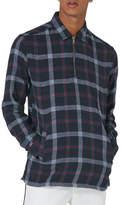 Topman Half Zip Check Shirt