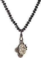 Miracle Icons Men's Onyx Rondelle & Triple-Pendant Necklace