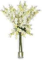 Bed Bath & Beyond Nearly Natural White Delphinium Silk Flower Arrangement