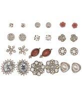 Charlotte Russe Embellished Stud Earrings - 12 Pack