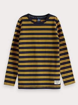 Scotch & Soda Striped Cotton T-Shirt