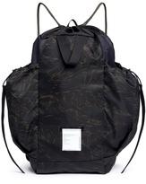 Satisfy Camouflage print drawstring backpack