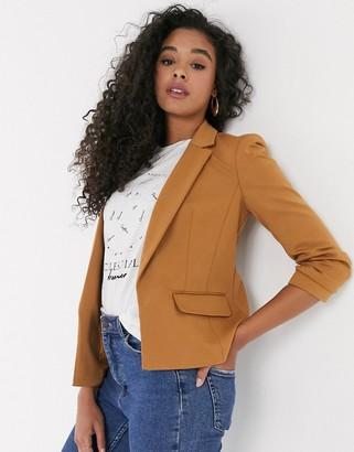 Miss Selfridge blazer in camel-Tan