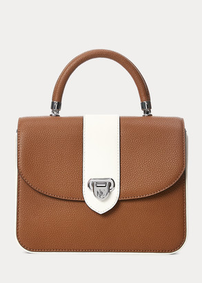 Ralph Lauren Pebbled Leather Medium Dawson Satchel