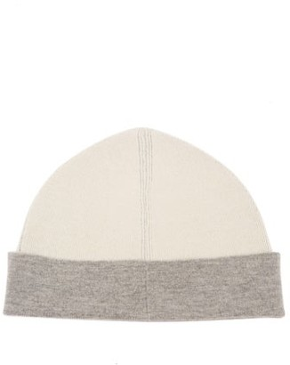Jil Sander Bi-colour Wool-blend Beanie Hat - Beige