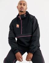 adidas adiplore half zip jacket with hood in black