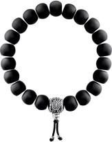 Thomas Sabo Rebel at Heart matte obsidian beaded bracelet