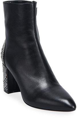 Alaia 75mm Studded Zip Booties