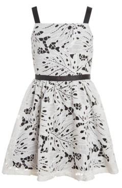 Calvin Klein Big Girls Plus Eyelet Sleeveless Dress