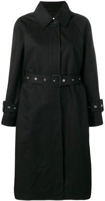 MACKINTOSH Black Cotton Single Breasted Trench Coat LM-097BS